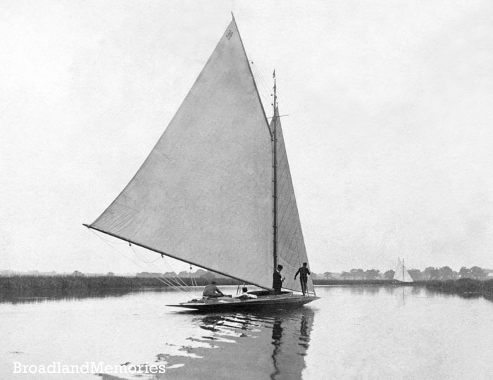 Caprice on the Norfolk Broads c1900