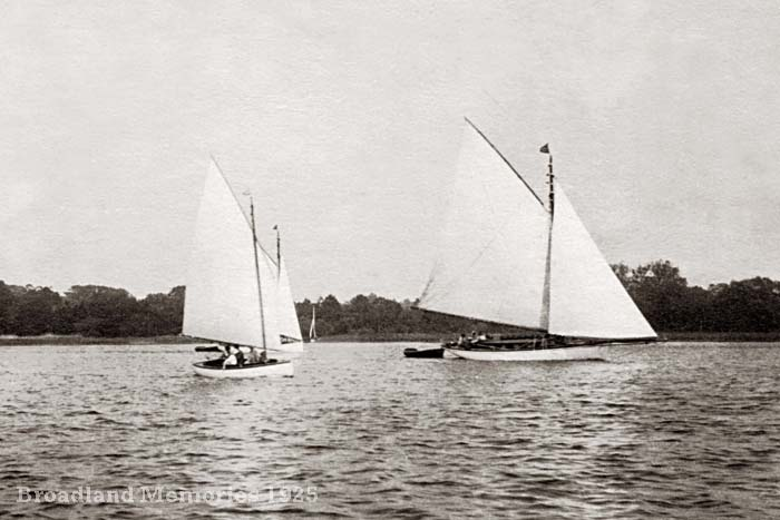 Sailing on the Norfolk Broads 1925