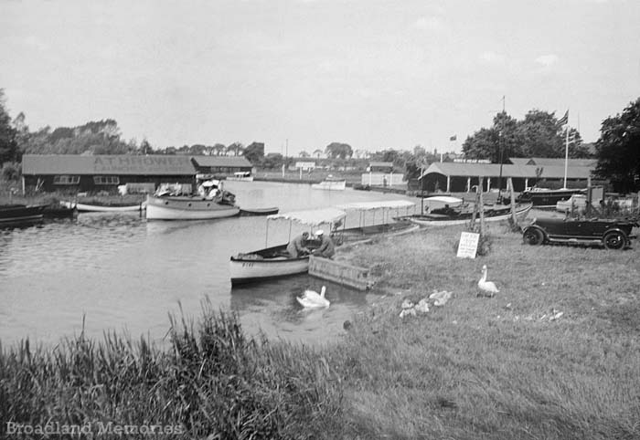 The view from Wroxham Bridge 1920s