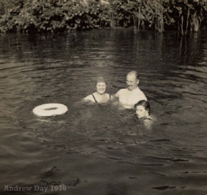 Swimming on the Norfolk Broads 1936