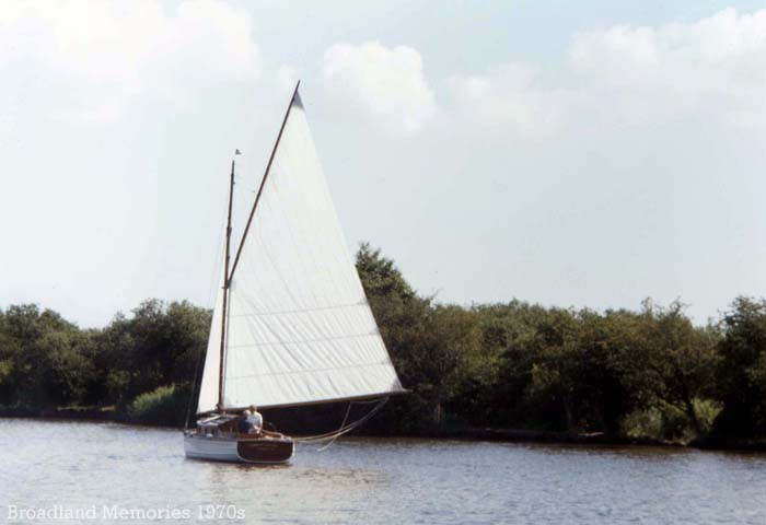 Sailing on the Norfolk Broads in the 1970s