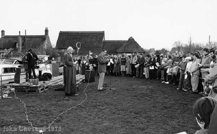 Bishop of Norwich service at Ranworth Easter 1978