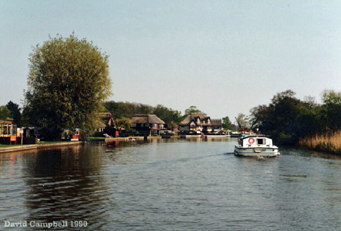 Cruising through Horning in April 1990.