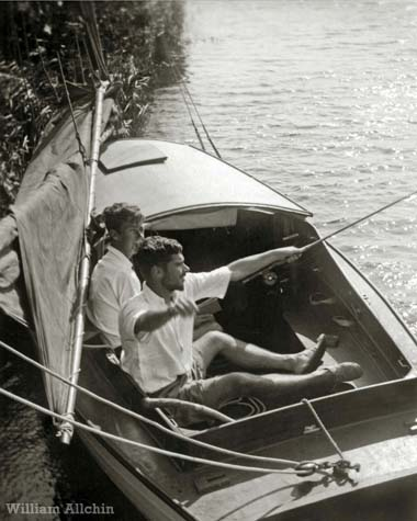 Fishing on the Norfolk Broads c1947