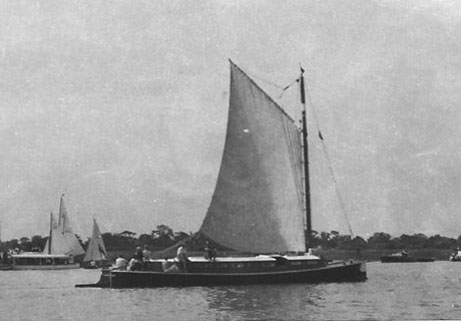 Wherry Claudian at Barton Broad 1950